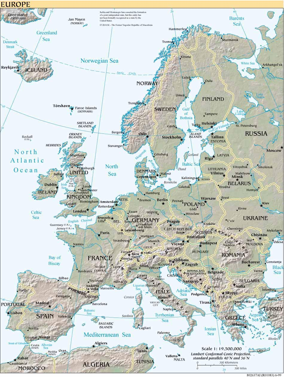 Map Of Europes Countries